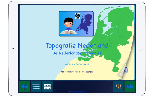 """Ga naar de preview van """"Topografie Nederland""""-app"""