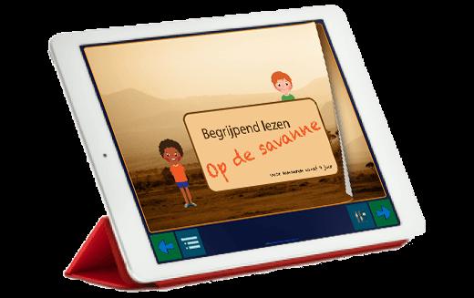 Voorbeeld van de MagiWise begrijpend lezen app.