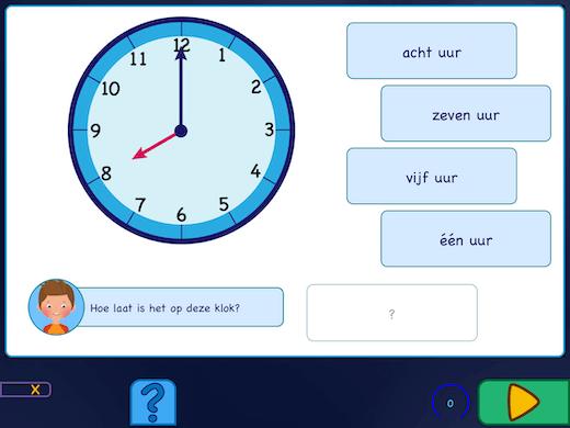 Oefeningen met de wijzers van de ronde klok. Weet jij hoe laat het is?