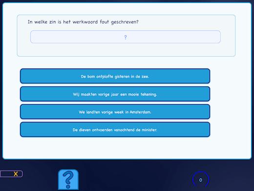Zoek welk werkwoord fout is vervoegd.
